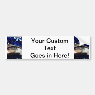 African Sideneck Turtle Looking at camera Car Bumper Sticker