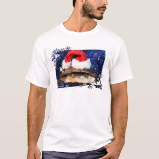 African sideneck turtle wearing santa hat T-Shirt