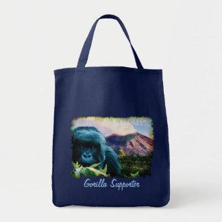 African Silverback Mountain Gorilla Grocery Bag