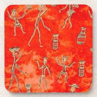 African Sketch Beverage Coaster