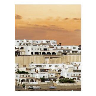 african skyline postcard