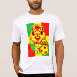 African Soccer Lion Tee Shirts