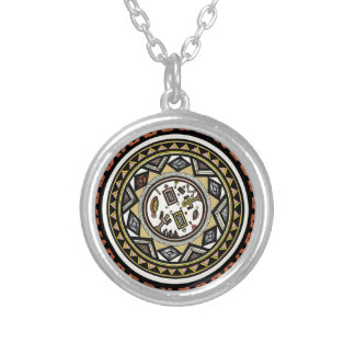 African Spirits Round Pendant Necklace