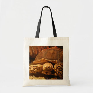 African Spurred Tortoise Tote Bags
