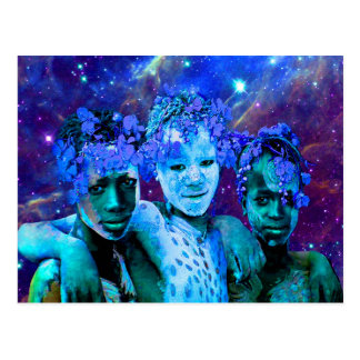 African Star Brothers Postcard