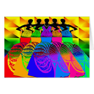 African Style Dream Girls Card
