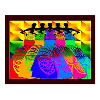 African Style Dream Girls Postcard