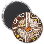 African Style Motif Magnet
