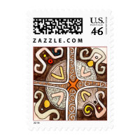 African Style Postage stamp