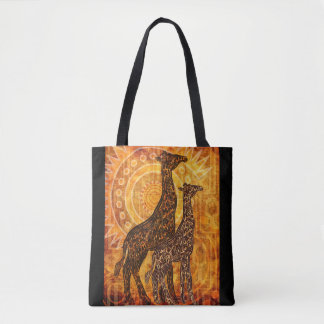African Summer Giraffes + your ideas Tote Bag