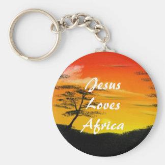 African Sun Keyring Basic Round Button Keychain
