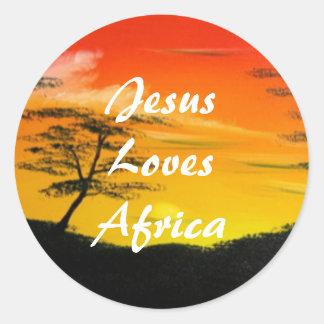 African Sun Sticker