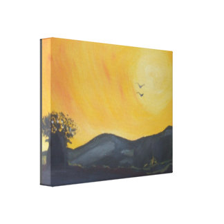 AFRICAN SUNSET-1 Premium Wrap Canvas 14x11,1.5inch
