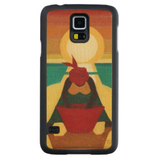 African Sunset 2009 Carved® Maple Galaxy S5 Slim Case