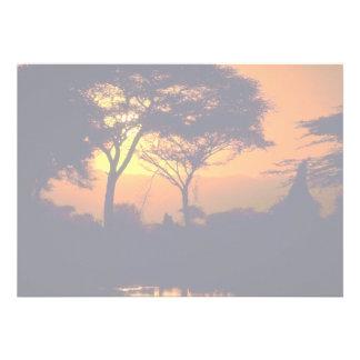 African sunset, Arusha National Park, Tanzania Invite
