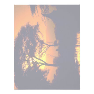 African sunset, Arusha National Park, Tanzania Letterhead Design