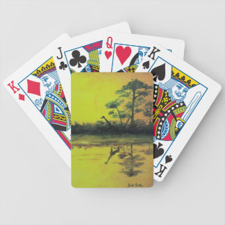 African Sunset Bicycle Playing Cards