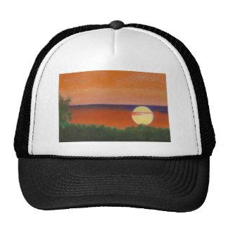 african sunset trucker hat