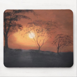 African sunset mousepads