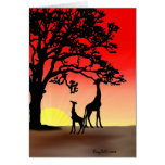 African Sunset Note Card