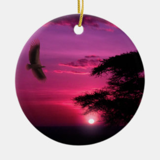 African Sunset Christmas Ornament