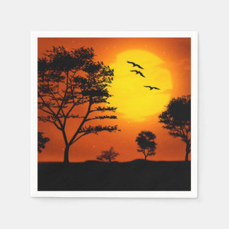 African Sunset Paper Napkin