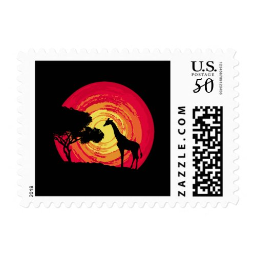 African sunset postage