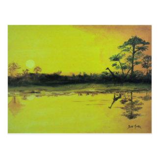 African Sunset Postcard
