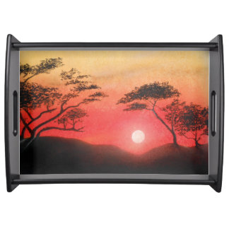 African Sunset Serving Tray