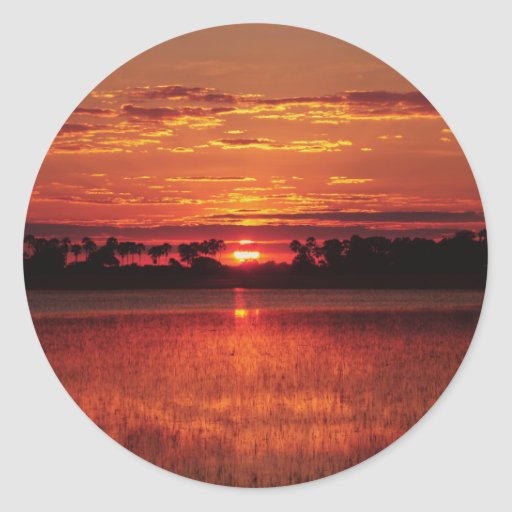 African sunset stickers