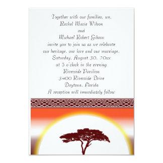African Sunset Wedding Invitation