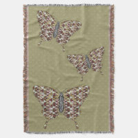 African Swallowtail Throw Blanket