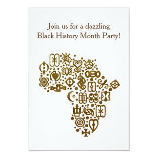 African Symbols BHM Party Invitations