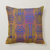 African Symbols Design Throw Pillow