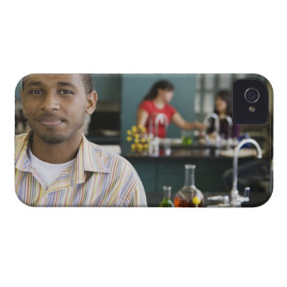 African teacher in chemistry lab iPhone 4 cover