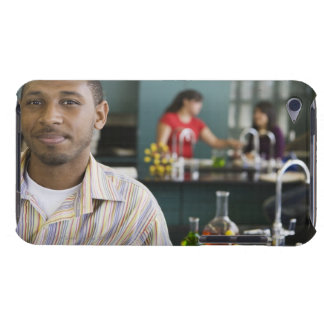 African teacher in chemistry lab iPod touch cases