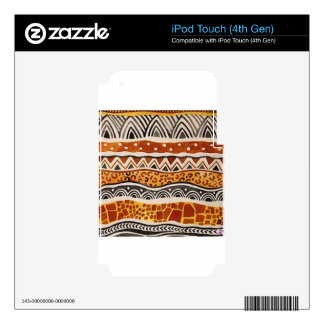 AFRICAN TEXTILE iPod TOUCH 4G SKIN