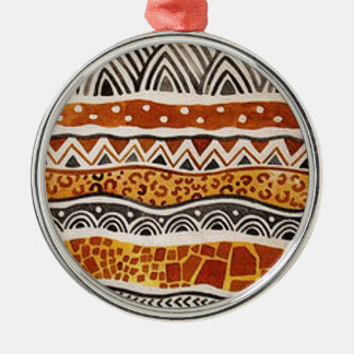AFRICAN TEXTILE METAL ORNAMENT