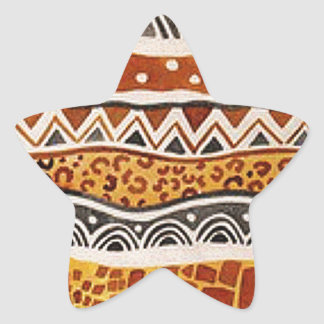 AFRICAN TEXTILE STAR STICKER