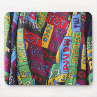 African tissue fabric mouse pad