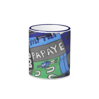 African tissue fabric mugs