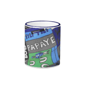 African tissue fabric ringer mug