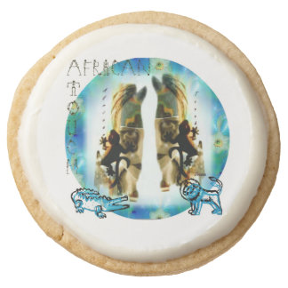 African Touch Tribal Cookies Round Premium Shortbread Cookie