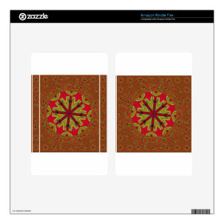 African Traditional Design Kindle Fire Skin