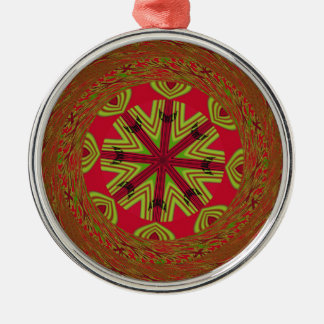 African Traditional Design Metal Ornament