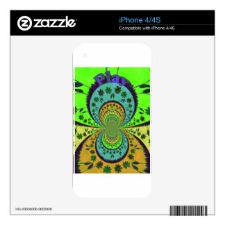 African Traditional Hakuna Matata Colors.png Decals For iPhone 4S