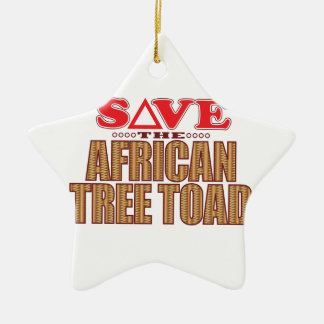 African Tree Toad Save Ceramic Ornament