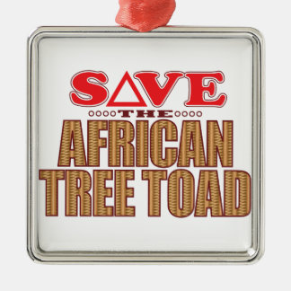 African Tree Toad Save Metal Ornament