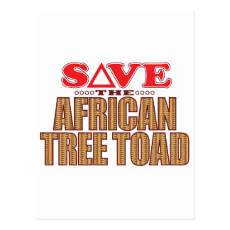 African Tree Toad Save Postcard