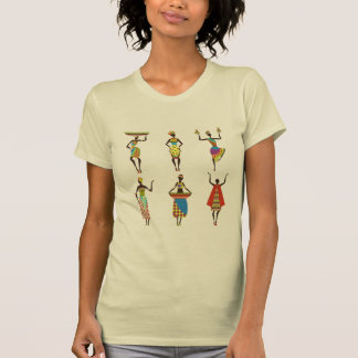 African Tribal art ladies colourful ethnic fashion T-Shirt